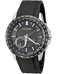 Citizen Mens CC3005-00E Satellite Wave Analog Display Japanese Quartz Black Watch