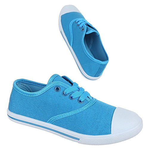 Sneakers Women's Blue amp;Co Top m M Aqua Low wqXOxT7