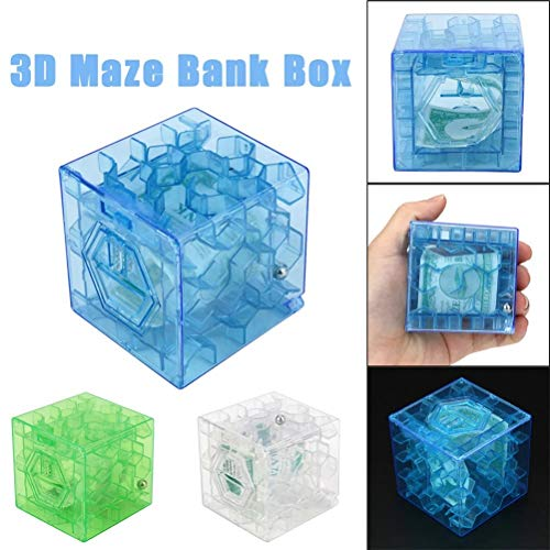3D Cube Puzzle Money Maze Bank Saving Coin Collection Case Box Fun Brain Game For children kids toys juguetes brinquedos 20]()