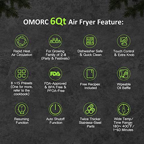 OMORC 6 Quart Air Fryer