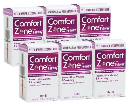 Comfort Zone with Feliway for Cats Diffuser Refill 6 Pack, 1.62-Ounce, My Pet Supplies