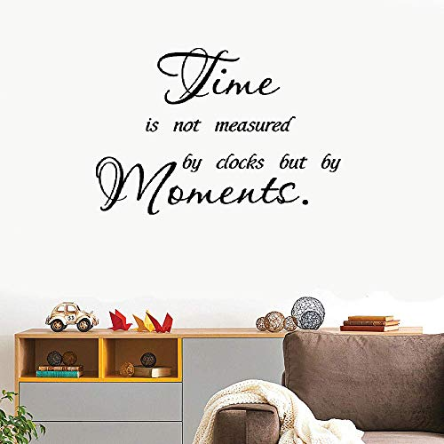Wall Decal Sticker Art Mural Home Decor Time is Not Measured by Clocks But by Moments for Living Room Bedroom