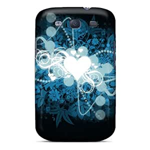 Excellent Design Heart Shaped Universe Widescreen Phone Case For Galaxy S3 Premium Tpu Case