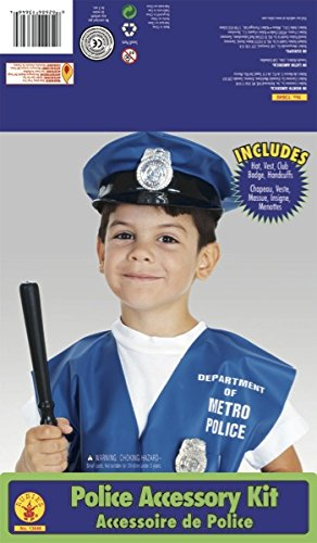 [Rubie's Costume Child's Police Officer Dress-Up Kit] (Blue Bull Mascot Costume)