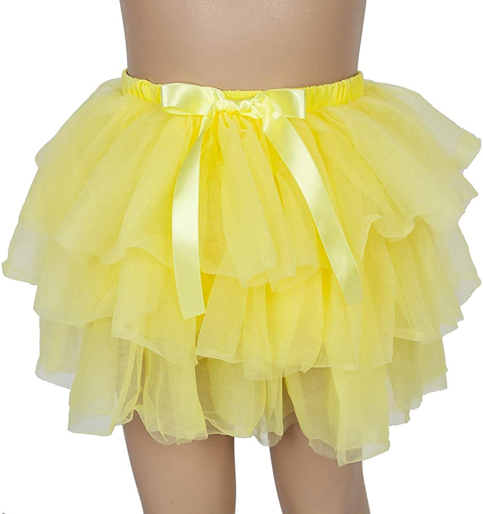 Tutu Skirt for Baby Girls 4 Layered Tulle Skirts Set with Hairbow or Crown Headband for Kids Birthday Gift(1T-3T