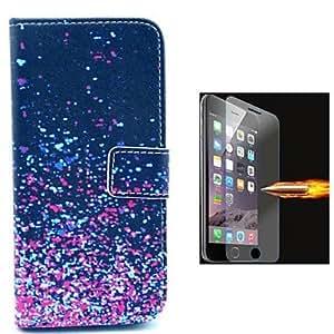 ZXM- diseño de camuflaje cuero de la PU caso de cuerpo completo con soporte de película de vidrio a prueba de explosión para el iphone 6 más