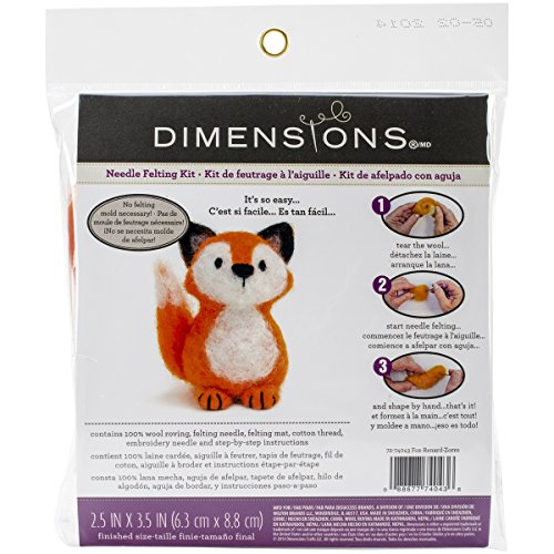 Dimensions Crafts 72-74043 Fox Needle Felting Kit Fox Needle