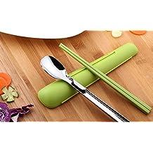 Pocket Size Chopstick & Spoon Set Lunch Box Kit with Case