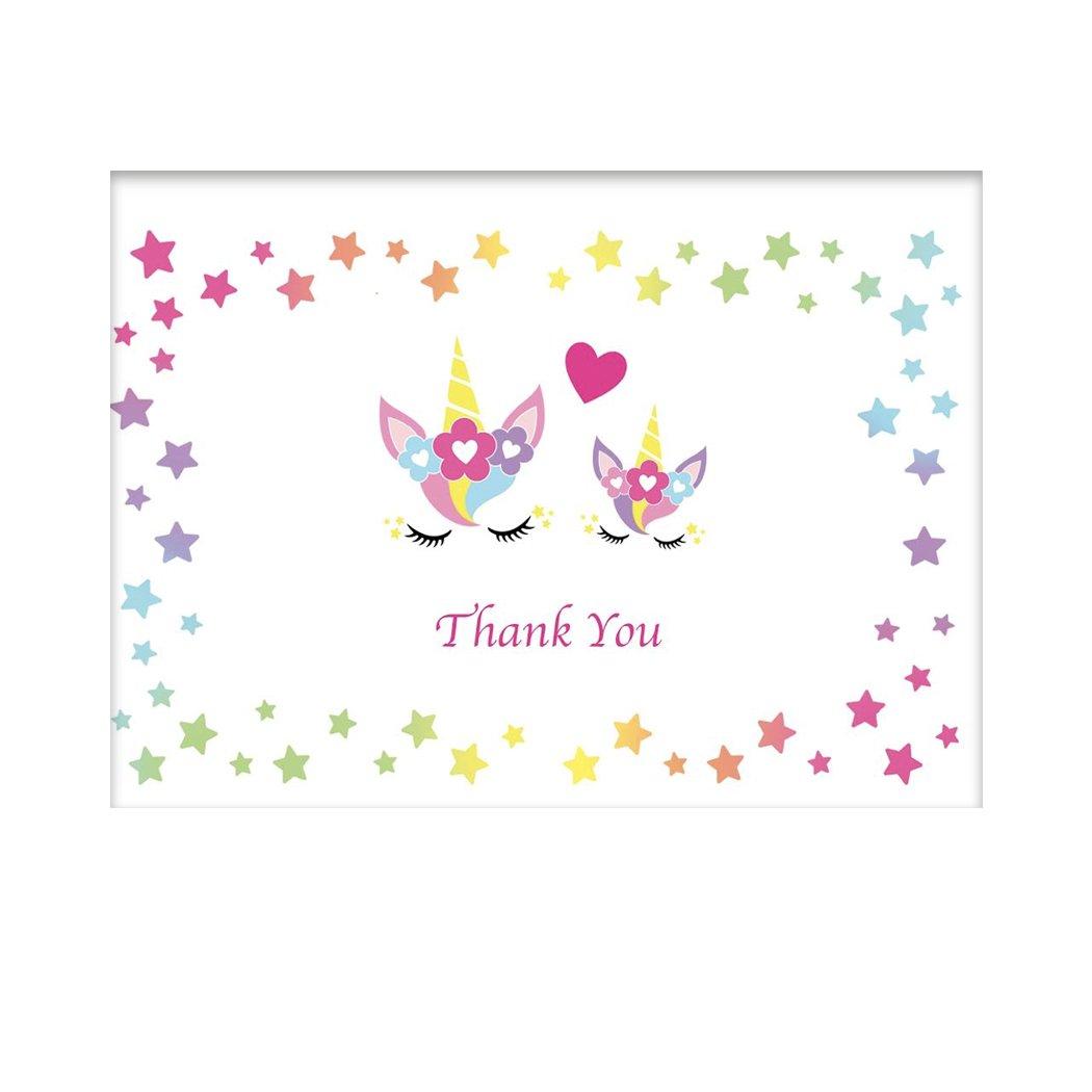 Tarjetas de agradecimiento: juego de 20 sobres en blancos de 10 x 15 cm en sobres blanco en el interior. 1bd2d5