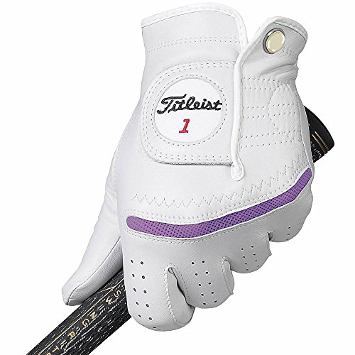 Titleist Perma Regular Soft Golf Gloves Women Right Grape Large