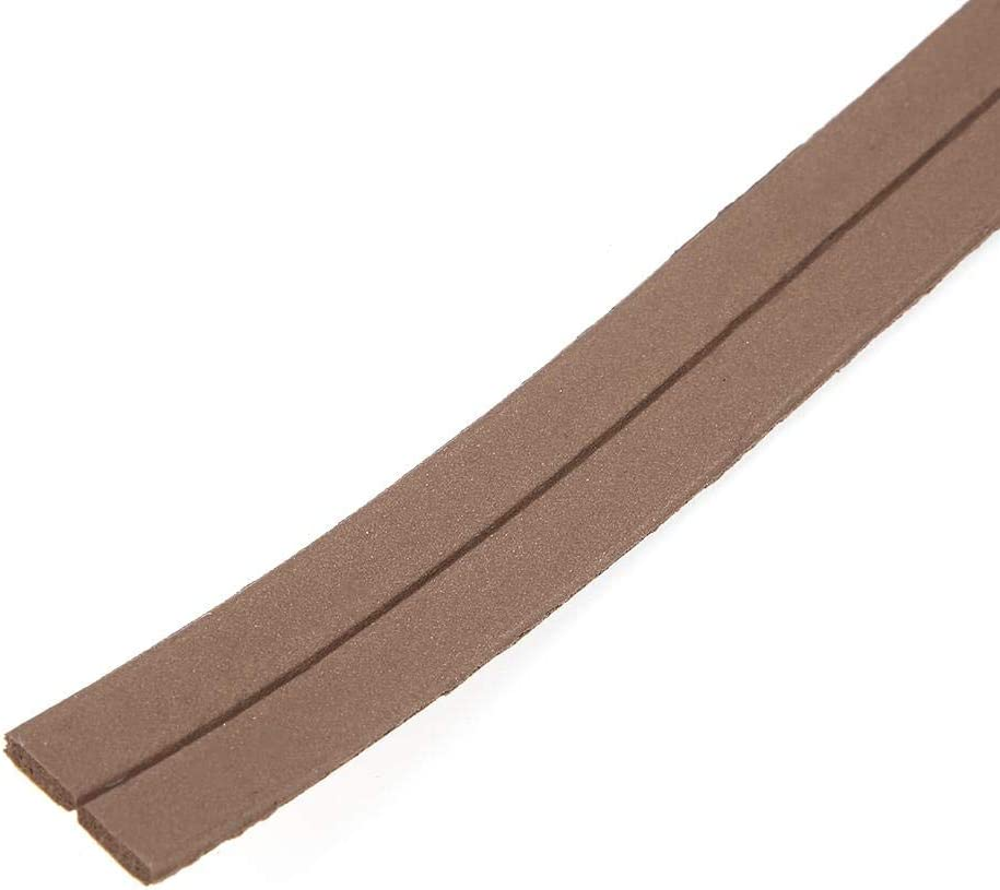 Garosa 2PCS Self-Adhesive Sealing Strip I Type Weatherproof Foam Seal Strip Collision Avoidance Weather Stripping Sealing for Doors Windows(196.9 inch) Brown