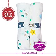 Newborn Baby Toddler 2 Pack Swaddle Blanket 100% Cotton Ultra Soft Muslin