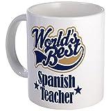11 ounce Mug - Spanish Teacher Gift Mug - S White