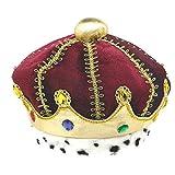 Amscan Majestic Velvet Child King Crown Wearable Headwear,7'' x 7'' Novelty Items (3 Piece)