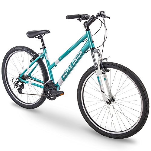 27.5 Royce Union RMA Womens 21-Speed All-Terrain Mountain Bike, 15 Aluminum Frame, Trigger Shift, Metallic Teal