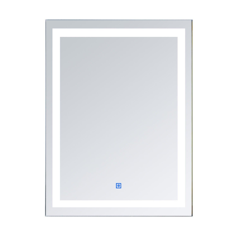 HOMCOM Vertical 36'' LED Outline Illuminated Bathroom Wall Mirror with Defogger