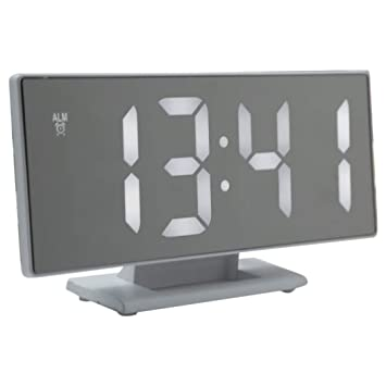 Justdolife Reloj LED De Escritorio Multiusos Reloj Digital para Oficina En Casa