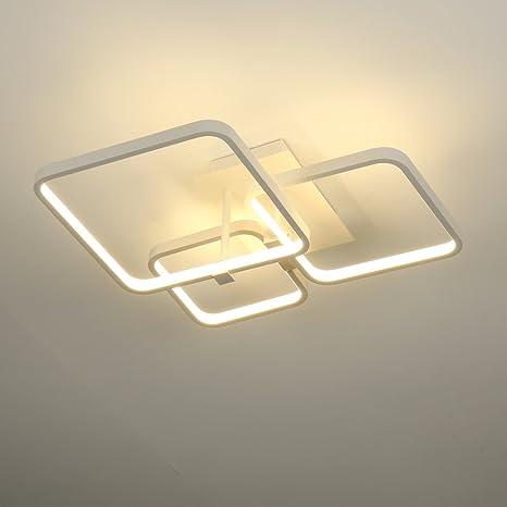 ELINKUME Lámpara LED de Techo 52W Plafón para Dormitorio ...