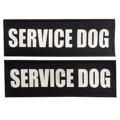 Reflective SERVICE DOG Patches, SERVICE DOG IN TRAINING/DO NOT PET/THERAPY DOG Patches, FAYOGOO Removable Dog Patches for Dog Vests and Harnesses