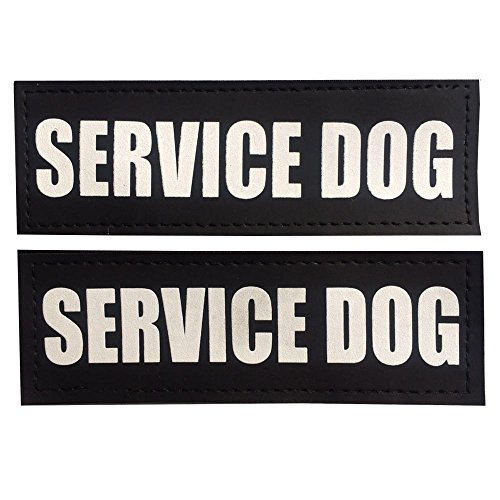 Fairwin Dog Patches for Service Dogs, Reflective and Removable Dog Tags for Service Vest Dog Harness