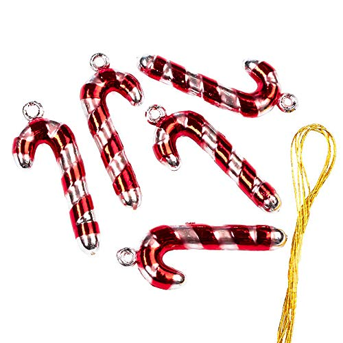 - Uknown Package of 30 Tiny Plastic Metallic Look Candy Cane Ornaments for Embellishing Packages, Trees and Crafts