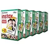 Fujifilm Instax Mini 100 Film for Fuji 7s 8 25 50s 90 300 Instant Camera, Share SP-1 White,Pack of 5