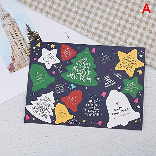 Party DIY Decorations - 10pcs Lot Colored Christmas Stamp Design Kraft Seal Sticker Paper Material Stick Diy Multifunction - Party Decorations Party Decorations Stamp Craft Halloween Plat -