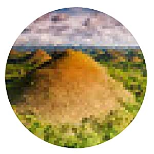 alfombrilla de ratón chocolate Hills - ronda - 20cm