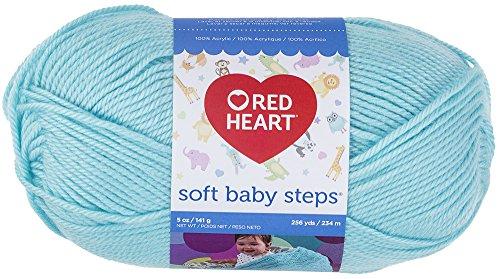 Red Heart Soft Baby Steps Yarn, Aqua ()