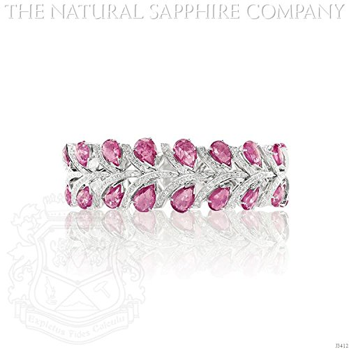 (37.46cts of Natural Untreated Pink Sapphires set in an 18kw gold bracelet with 4.22cts of diamonds)