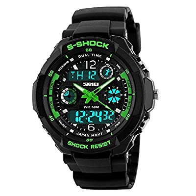 Men's Multifunction Fashion Sport Wrist Watch S Shock 50M Water Resistant Military Digital LED Waterproof