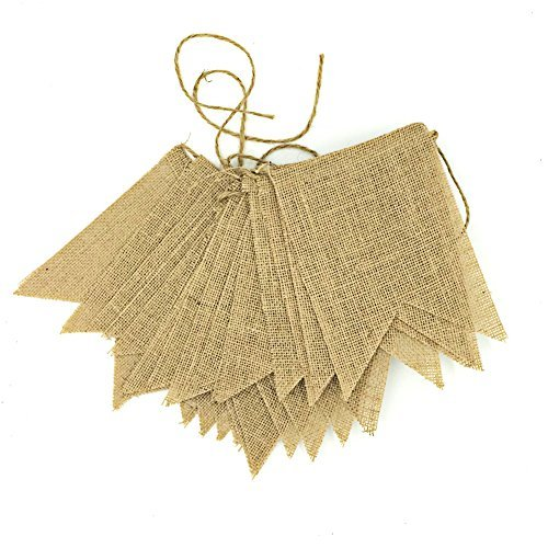 30 Pcs Best DIY Vintage Burlap Banner 28.2Ft Hand Painted Decoration for Wedding Birthday and Kids Party