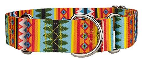 Country Brook Design - 1 1/2 Inch Summer Pines Martingale Dog Collar - Medium
