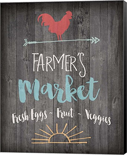 Farmer's Market - Chalkboard by Jo Moulton Canvas Art Wall