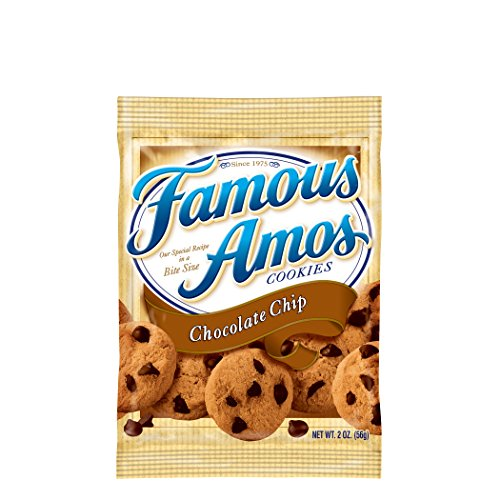 Famous Amos Cookies, Chocolate Chip, 2 oz Snack Pack, 42 Packs/Carton (1 carton) (Best Famous Amos Cookies Recipe)