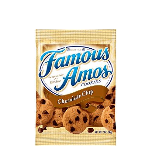 Famous Amos Cookies, Chocolate Chip, 2 oz Snack Pack, 42 Packs/Carton (1 carton) ()