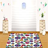 jordan dining table - HAIXIA rugs Colorful Colored Big and Little Dotted Dots Repeating Pattern Funky Graphic Illustration