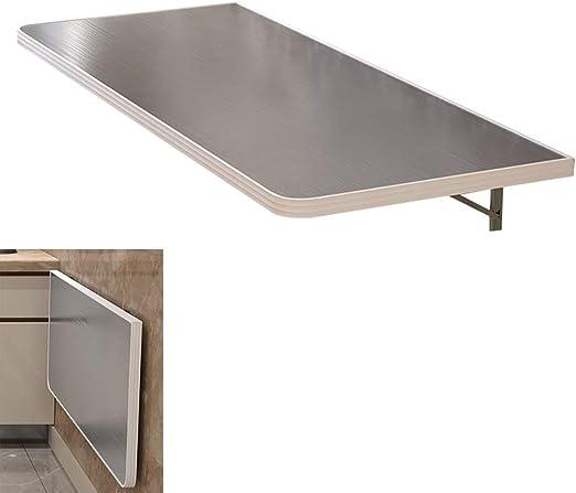 mesa plegable YXX Pared Mesas Colgantes de Acero Inoxidable montadas en la Pared para la Cocina, Escritorio Convertible Plegable para Ahorrar Espacio, para Sala de lavandería, hasta 100 kg: Amazon.es: Hogar