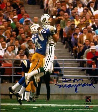 Maynard Autographed New York Jets - Autographed Don Maynard New York Jets Photo