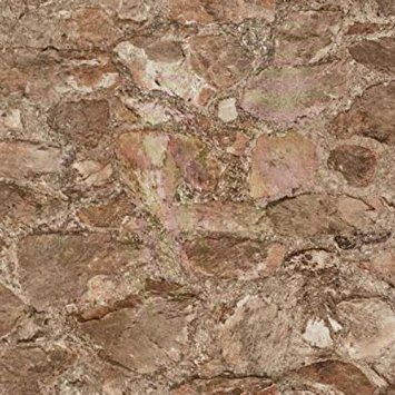 (York Wallcoverings PA130902 Weathered Finishes Field Stone Wallpaper, Slate Blue/Terra Cotta/Amber/Pale Grey/Silver)