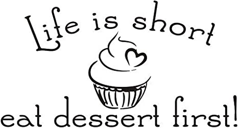 Stressed Is Desserts Funny Black Typography Kitchen Poster Print Home Wall Art