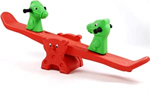 Kids Seesaw Grown Up Happy Seesaw Toy Kids Seesaw Swivel Teeter-Totter Home Playground Indoor Outdoor Use Toddlers Totter Safe Kindergarten Toys Teeter Totters ( Color : Green , Size : 140x28cm )