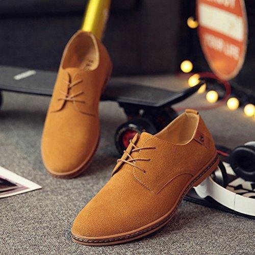 Mxnet Oxford lacci Cammello suola pelle top stivali pelle libero confortevole sul stringate tempo con casual Scarpe scarpe in in uomo rrqAdUwP