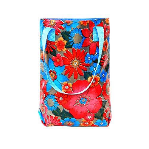 Borsa shopper donna - borsa per la speza, colori, in tela cerata, impermeabili, Alegria oro