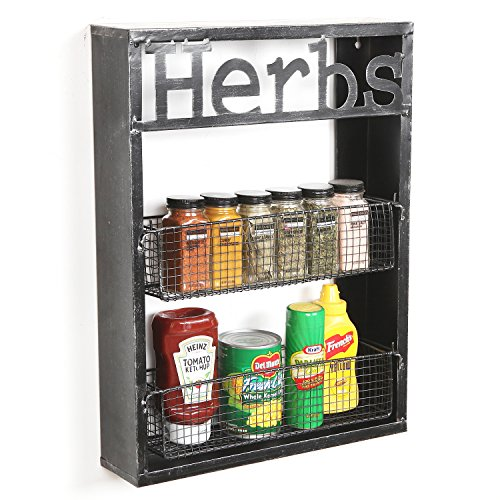 black metal spice rack - 6