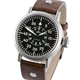 Aristo 3H58A 44mm Automatic Pilot's Watch with Large Crown and Sapphire Crystal