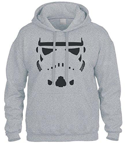 Cybertela Storm Trooper Stormtrooper Sweatshirt Hoodie Hoody (Light Gray, (Trooper Sweatshirt)