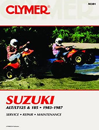 amazon com clymer repair manual for suzuki atv alt lt 125 185 83 87 rh amazon com suzuki alt 125 manual suzuki lt 125 manual free