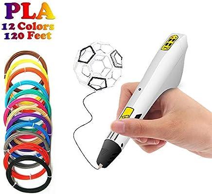 KEHUASHINA Dibujo 3D Doodle Impresora Pluma Puzzle Juguetes,12 ...