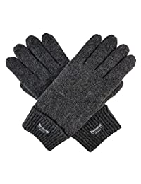 Bruceriver Men's Pure Wool Knitted Gloves with Thinsulate Lining Size XXL (Anthra)